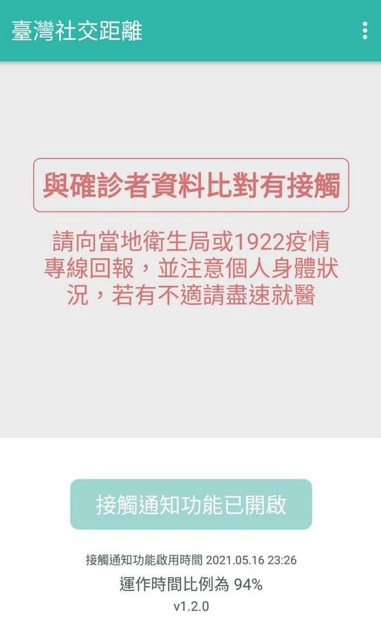 快新聞/台灣社交距離App已有183確診者回報 「紅字」接觸警訊曝光