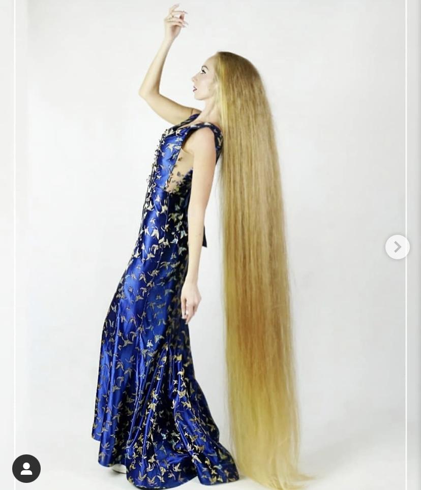 真人版「長髮公主」5歲後沒剪過頭髮!烏克蘭正妹秀髮直逼200公分