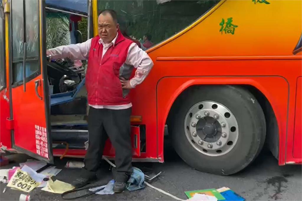快新聞/蘇花公路遊覽車撞山壁 司機臉濺血:踩不到剎車