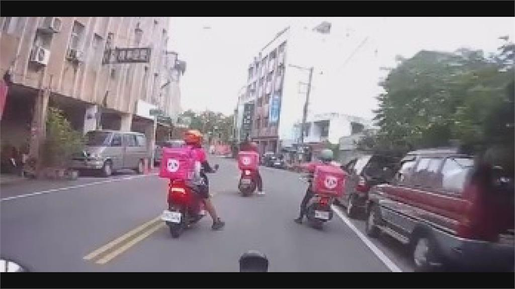 「您的訂單正在輸贏」UberEats路口打人逃逸 熊貓烙7人圍堵嗆聲