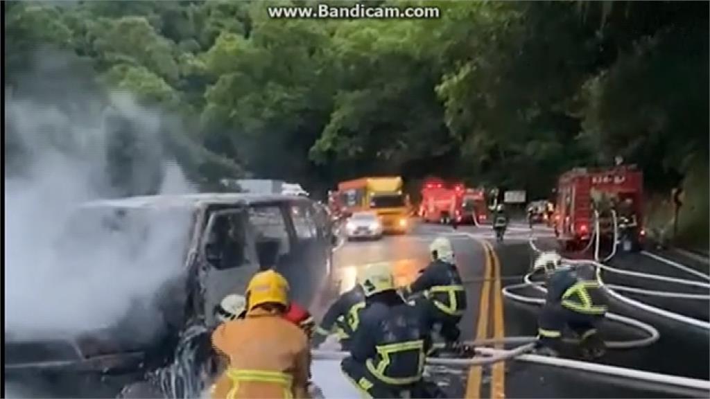 蘇花公路火燒車塞爆 疑酒駕撞對向車釀禍