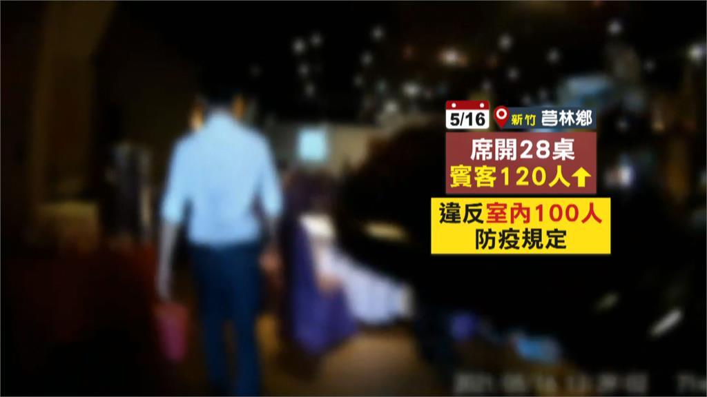 新竹縣二級警戒竟辦百人婚宴 稽查人員當場疏散