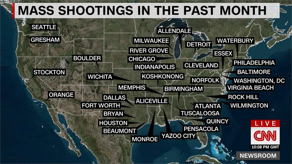 1個月45起槍擊案!美國今年至少147人喪生