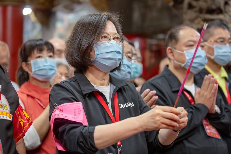 快新聞/白沙屯媽祖即將起駕 蔡英文親參拜:進香代表台灣人團結精神