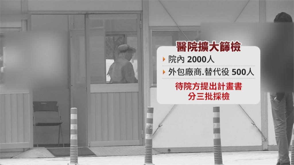 確診醫院普篩2500人 陳時中:沒破口不公布名稱