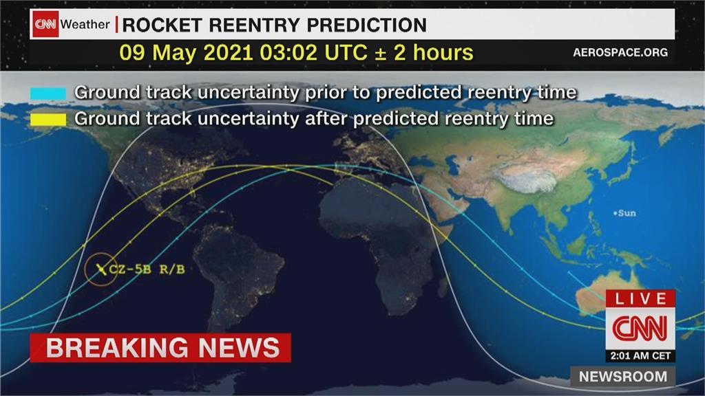 太空迷緊盯火箭殘骸動向 美軍證實:落印度洋