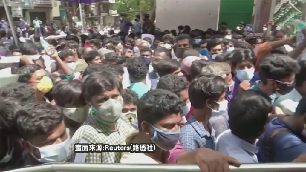 沒藥物求生機!  印度清奈數百群眾圍體育館 盼獲「瑞德西韋」救命