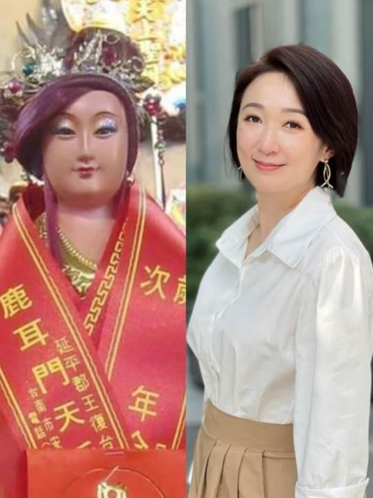撞臉「媽祖神像」美女主播曝對比照 全場傻了:神複製