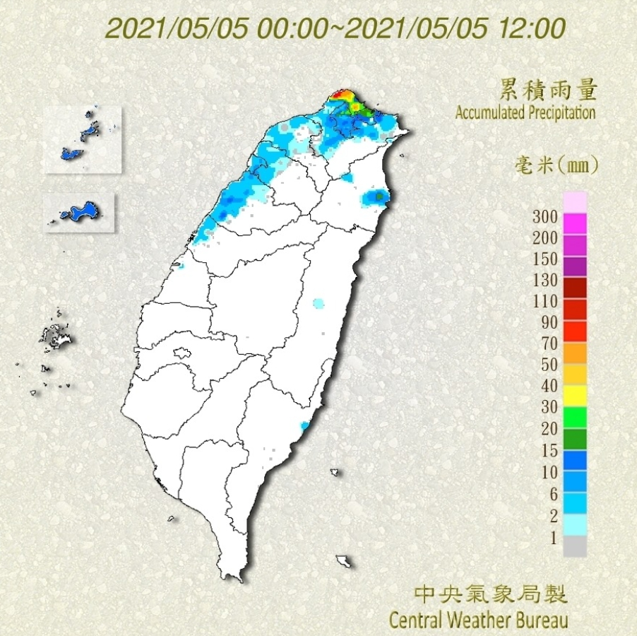 鋒面過境迎大雨!「累積雨量前十名」全在北北基 中南部雨量掛零