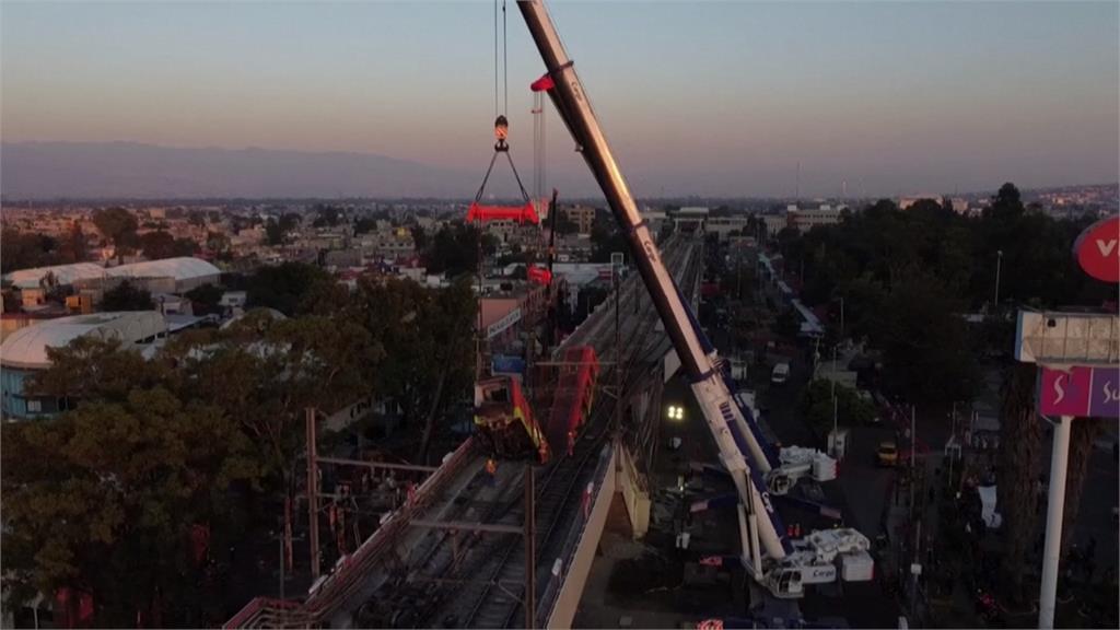 墨西哥市捷運崩塌意外 列車高空墜落釀24死
