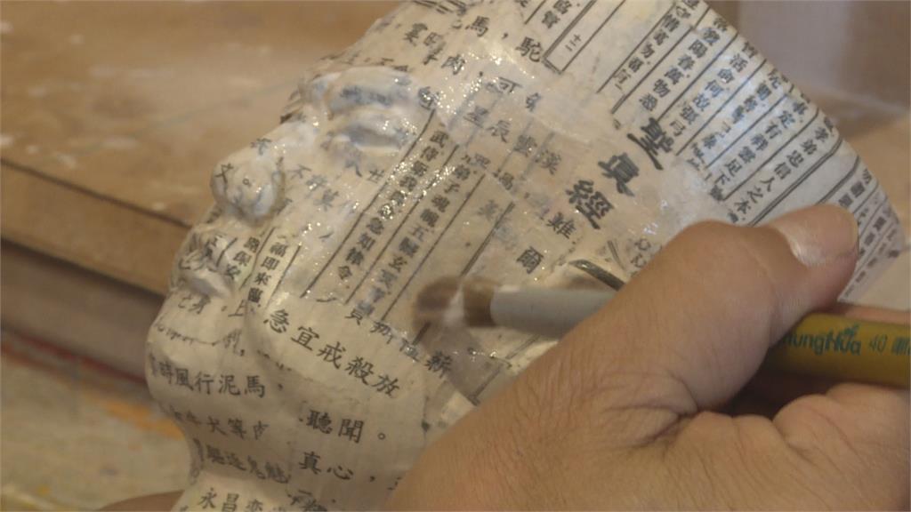 朴子配天宮「紙糊媽祖」 做工精美更甚木雕像