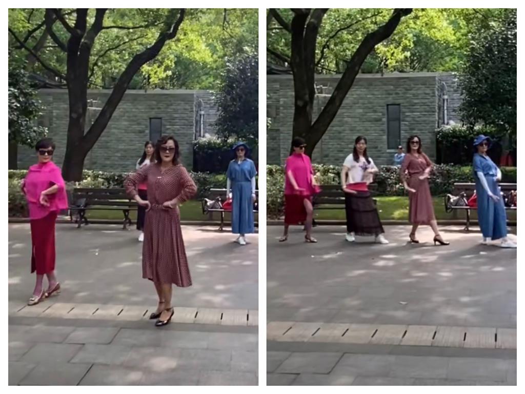 劉嘉玲亂入「公園大媽廣場舞」忘情嗨跳 沒人認出慘遭推