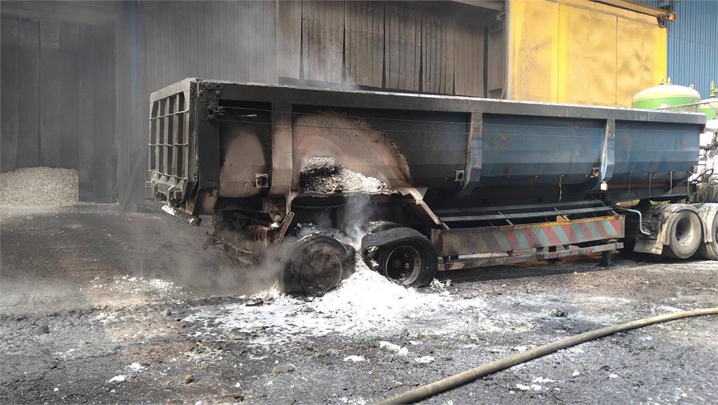 煉火地獄!台中豐興鋼鐵爐渣車爆炸 驚悚40秒影片公開