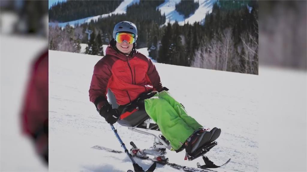 座式雪板拚極限 身障名將挑戰高難度跳台