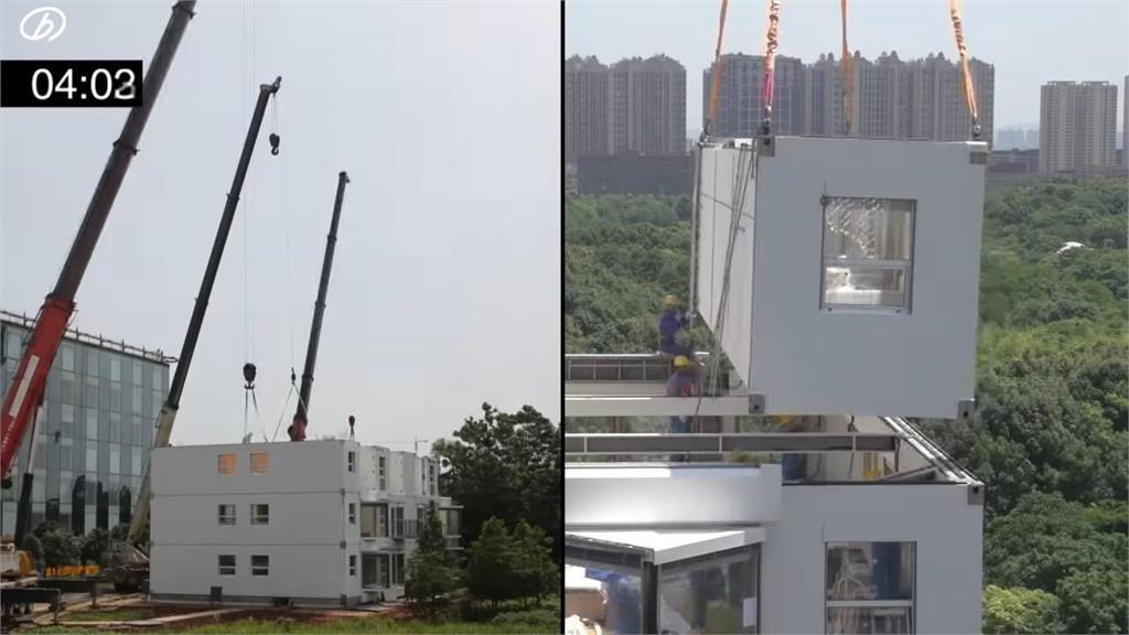 厲害了中國!只花28小時蓋好10樓公寓 驚呆台網友「誰敢住」