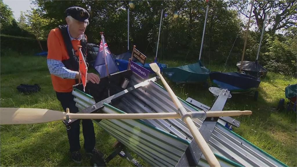 英國米克船長自製鐵船 運河上航行募款