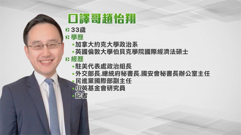 「口譯哥」趙怡翔將返台 投入北市議員選戰