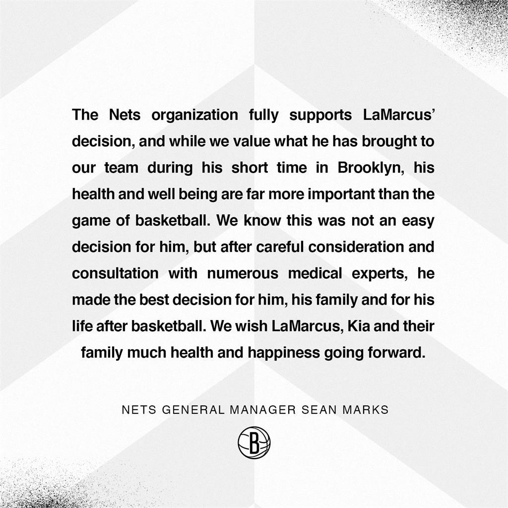 NBA籃網球星阿德雷奇心律不整 宣布結束15年生涯