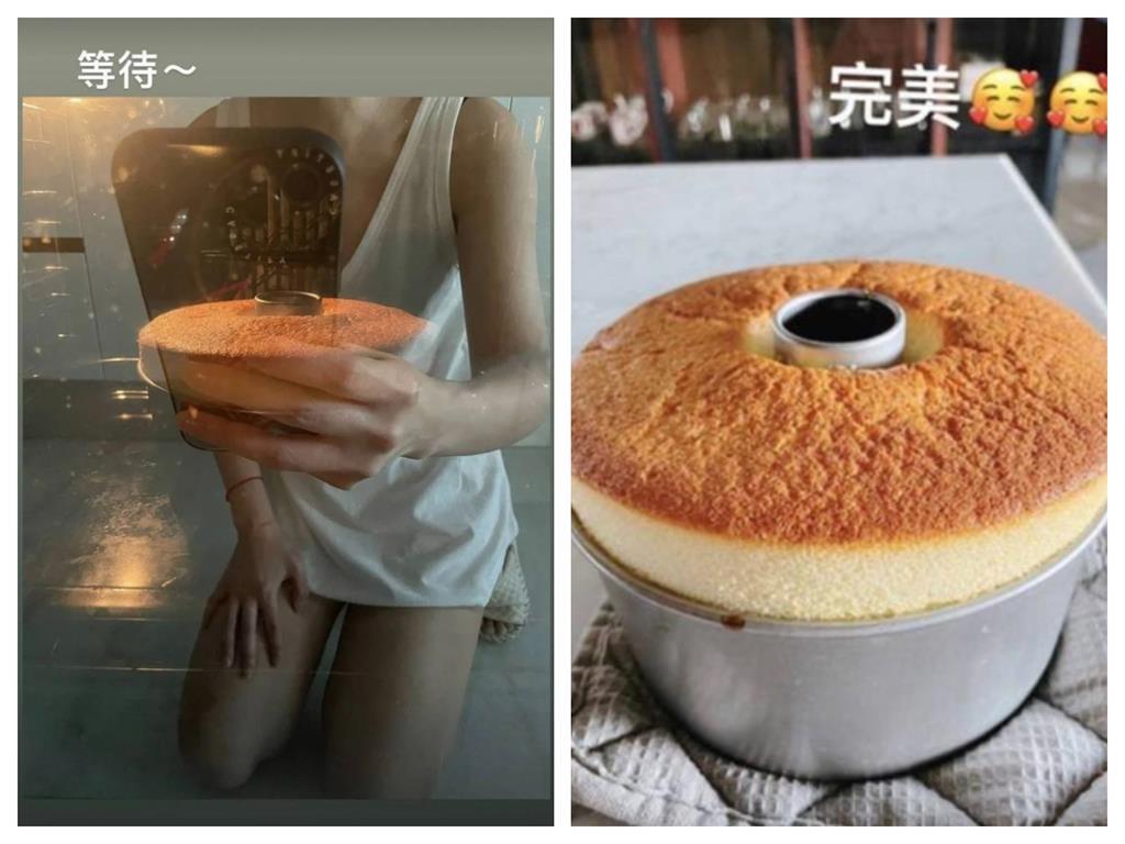 林心如宅在家烤蛋糕!烤箱意外反射「下半身失蹤」火辣身材全外洩
