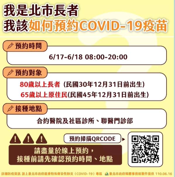 快新聞/台北明起開放80歲以上長者預約接種 柯文哲:非設籍在台北市也能登記