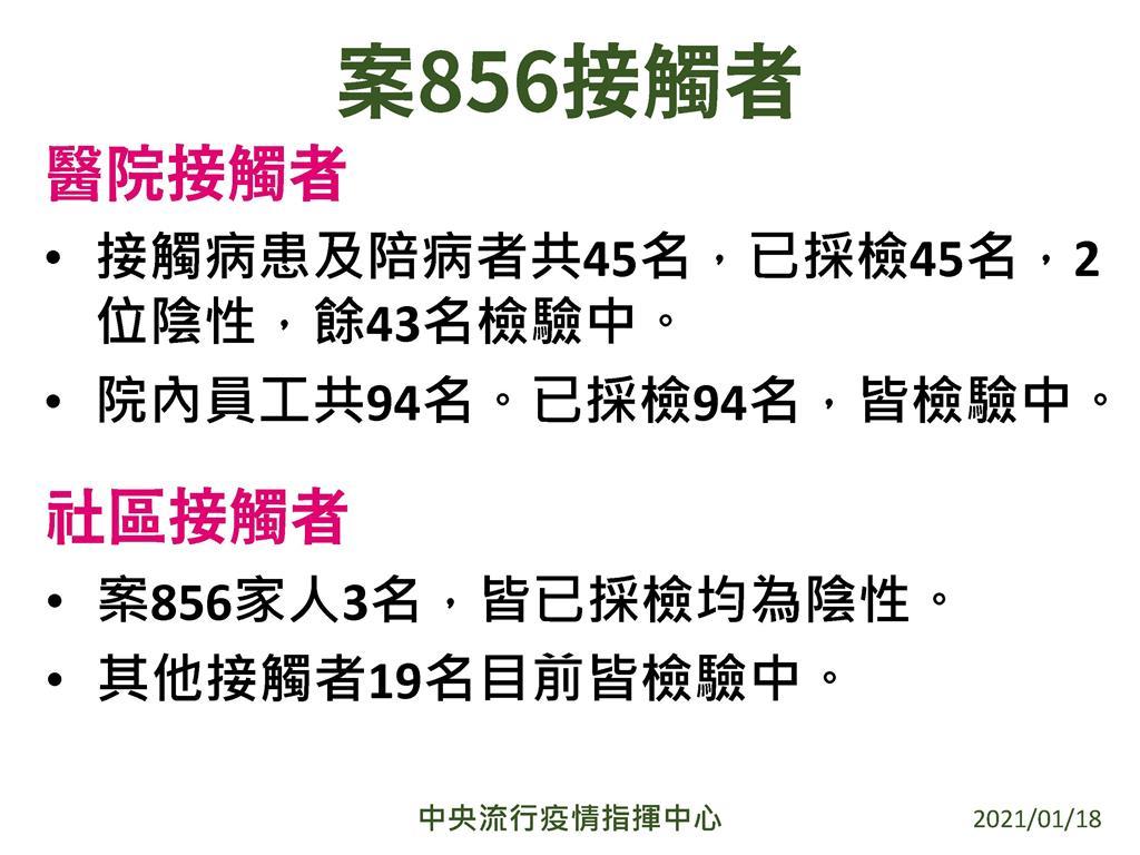 快新聞/北部醫院2醫3護確診! 陳時中公布案856接觸者採檢結果