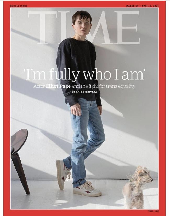 想當男生!《全面啟動》女星成「跨性別者」 艾略特佩吉登時代雜誌封面