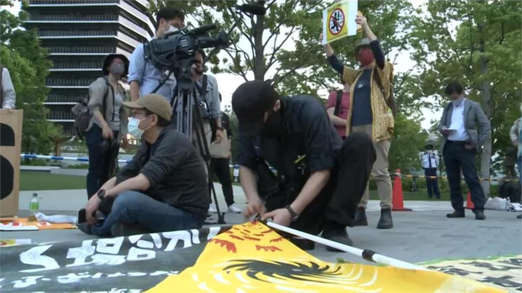 日本疫情燒不停 民眾示威遊行要求停辦東奧!
