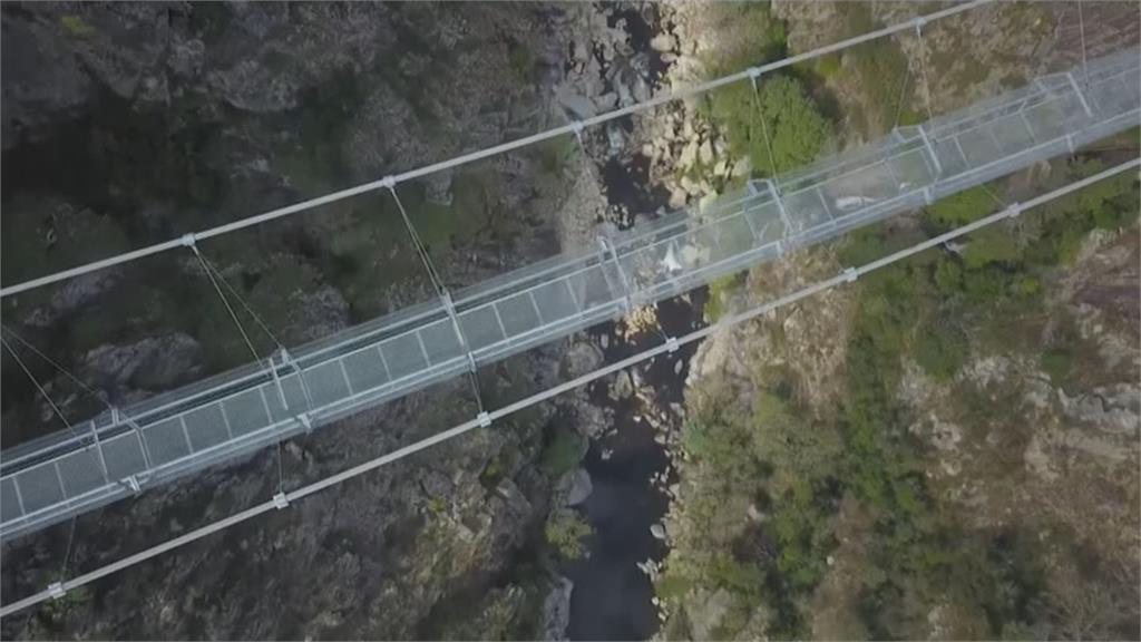快10分鐘才走得完!葡萄牙「阿羅卡516吊橋」試營運