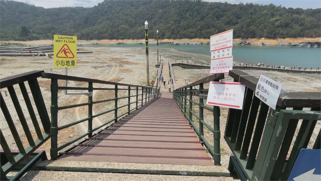 日月潭水位直直落 水社碼頭23日起封閉