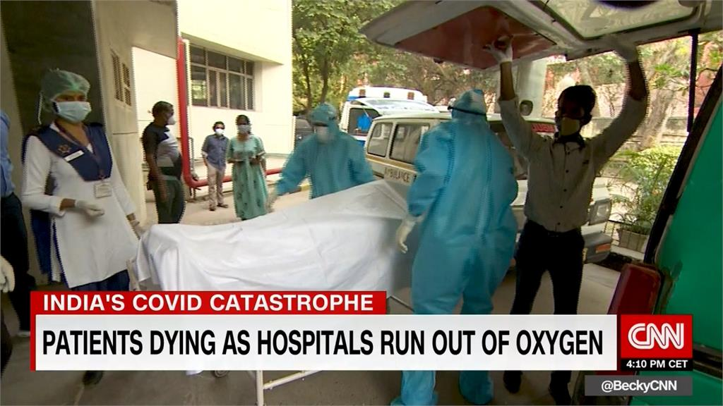 印度確診直逼2千萬 病患躺醫院地板自生自滅